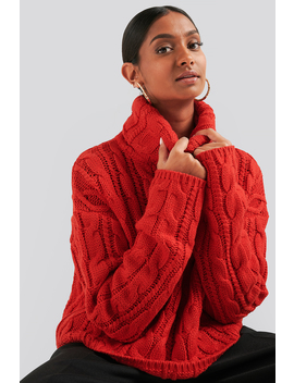 Folded Polo Knit Red by Na Kd