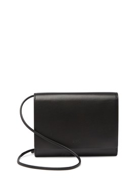 Leather Compact Crossbody Bag by Baggu