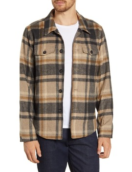 Standard Fit Plaid Button Up Flannel Shirt Jacket by Billy Reid