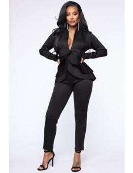 Penelope Scuba Set   Black by Fashion Nova