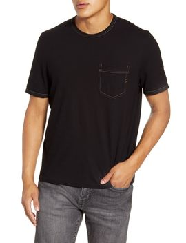 Contrast Stitch Ringer Tee Standard by Billy Reid