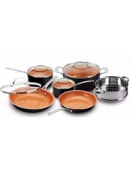 Gotham Steel 10 Piece Kitchen Nonstick Frying Pan And Cookware Set   Brand New by Gotham Steel