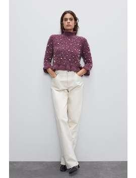 Alpaca Blend Pearl Sweater by Zara