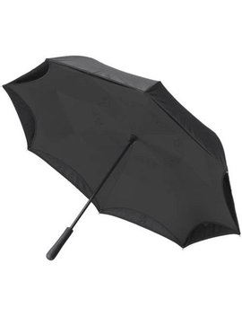 Better Brella, Reverse Open Close Umbrella, Wind Proof Design (Black/Black) by Herrschners
