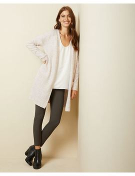 Spongy Knit Open Front Cardigan With Pockets by Rw & Co