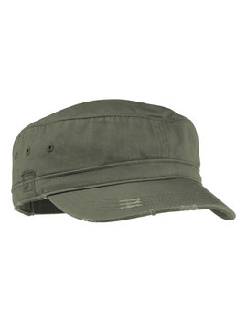 District Threads Distressed Military Unstructured Hat by District Threads