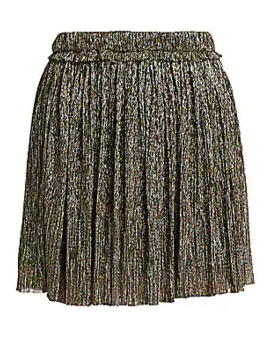 Benedicte Lurex Pleated Mini Skirt by Isabel Marant Etoile
