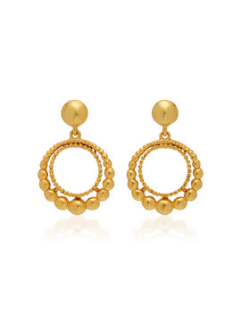 Gold Tone Earrings by Oscar De La Renta