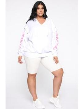Unbothered Hoodie   White by Fashion Nova