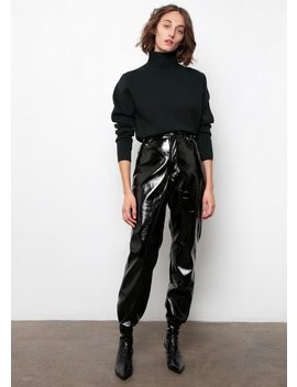 Black Patent Flared Pants by The Frankie Shop