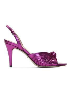 粉色 Crawford 高跟凉鞋 by Gucci