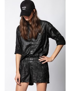 Tais Cuir Froisse Shirt by Zadig & Voltaire