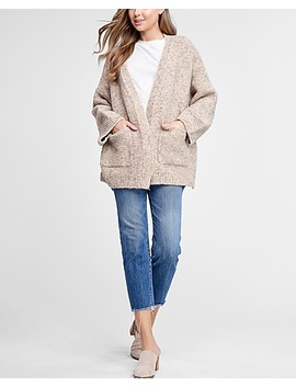Emory Park Beige Oversized Cardigan by Express