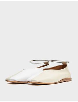 Leather Flat In White by Jil Sander Jil Sander