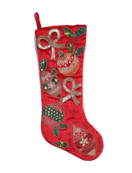 Home Collection By Seasons Designs Beaded Ornament Christmas Stocking by Home Collection By Seasons Designs