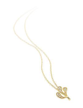 Sea Leaf 18k Little Diamond Necklace by Miseno