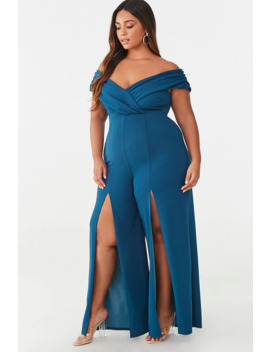 Plus Size High Slit Jumpsuit by Forever 21