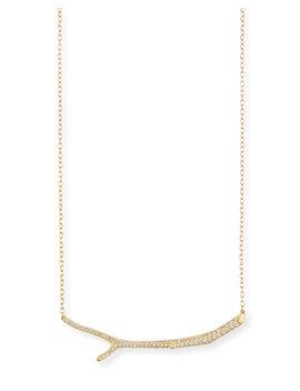Wonderland 18k Yellow Gold Diamond Twig Necklace by Mimi So