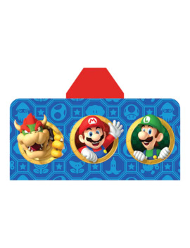 Nintendo Super Mario Jump & Go Hooded Towel Wrap by Nintendo