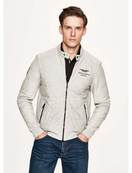 Cotton Jersey Full Zip Sweater by Hacket