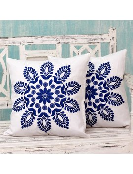 Delhi Splendor Pillow Cover by Novica