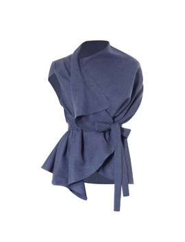 Lincoln Asymmetric Wrap Top Blue by Meem Label