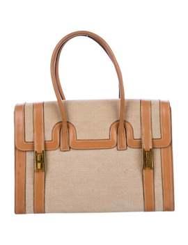 Box Trim Toile Drag Bag 30 by Hermès