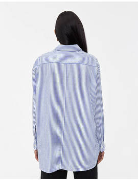 Elma Oversized Button Up In Blue Stripe by Hope Hope