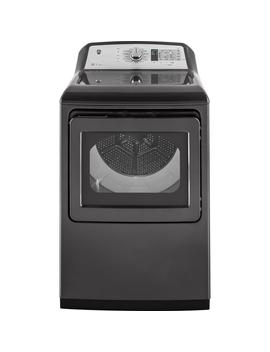 7.4 Cu. Ft. Smart 120 Volt Diamond Gray Gas Vented Dryer With Steam, Energy Star by Ge