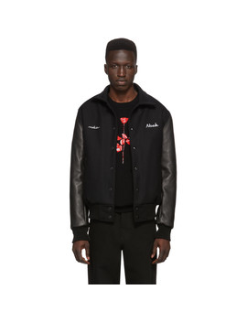 Black Depeche Mode Violator Rose Bomber Jacket by Noah Nyc
