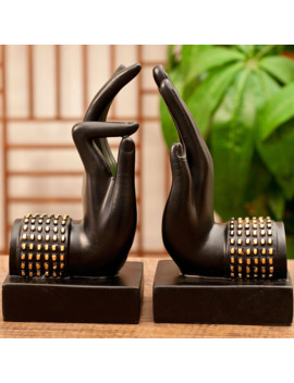 Handmade Black Creative Vintage Buddha Hand Decorative Book Ends Bookends Book Holder Crafts Ornaments Home Decoration L3268 by Ali Express.Com