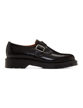 Black Solovair Edition Depeche Mode Rose Monk Derbys by Noah Nyc