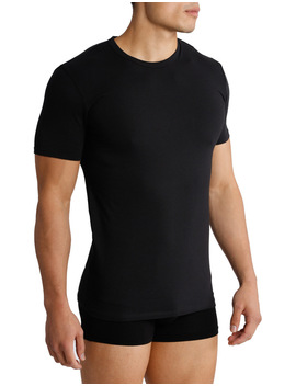 Cotton Stretch Crew Neck 2 Pack T Shirt by Calvin Klein
