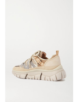 Blake Suede, Leather And Mesh Sneakers by Chloé