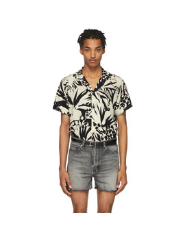 Black & Off White Jungle Shirt by Saint Laurent