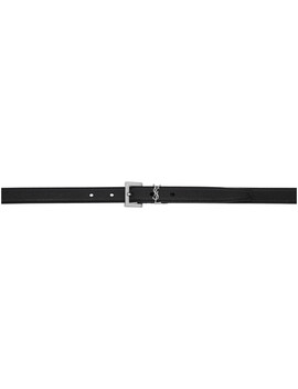 Black Monogramme Belt by Saint Laurent
