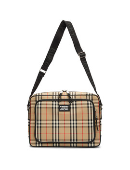 Beige Marlon Messenger Bag by Burberry