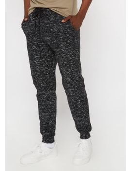 Black Marled Sherpa Lined Joggers by Rue21