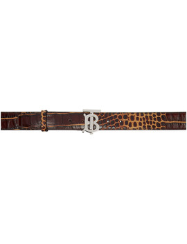 Brown Croc Tb Belt by Burberry