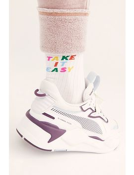 Take It Easy Crew Socks by Ban. Do