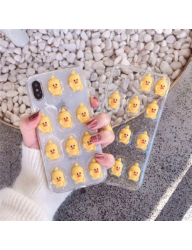 Transparent Crystal Glitter Silicone Case For I Phone 6 6 S 7 8 Plus X 11 Pro Xr Xs Max Case Cartoon Cute Duck Soft Tpu Phone Cover by Ali Express.Com