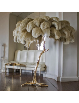 Creative Feather Resin Palm Tree Floor Lamp Tripot Free Standing Lamps For Living Room Home Decor Tree Postmodern Floor Lamp E14 by Ali Express.Com
