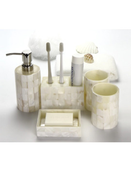 Fashion European 5 Pcs Shell Toilet Ceramic Bathroom Accessaries Set Toothbrush Holder Soap Dish Lotion Dispenser With Tray Lfb293 by Ali Express.Com