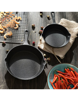 Hot Sale Cast Iron Fry Pan Pot Kettle Smoke Free Pan Kitchen Cookware Supplies Induction Cooker Ty by Ali Express.Com