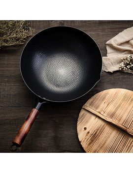 High Quality Iron Wok Traditional Handmade Iron Wok Non Stick Pan Non Coating Gas Cooker Cookware by Ali Express.Com