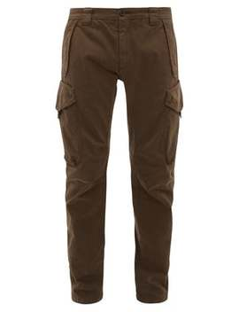 Goggle Cotton Blend Sateen Cargo Trousers by C.P. Company