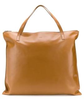 Zipped Tote Bag by Jil Sander