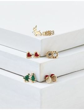 Aeo Holiday Stud Earrings 6 Pack by American Eagle Outfitters