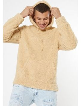 Sand Sherpa Pullover Hoodie by Rue21