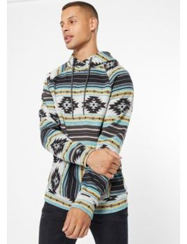 Mint Ikat Print Pullover Hoodie by Rue21